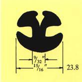 "290 Glass 1/4"" (6.3) Panel 1/4"" (3.2) Min Bend Rad 4"" (102)"