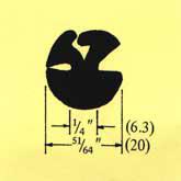 "291 Glass 3/16"" (5) Panel 3/16"" (5) Min Bend Rad 2 5/16"" (59)"